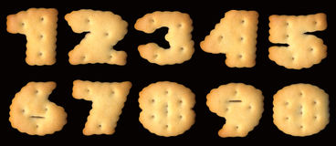 Figures of cracker biscuits Royalty Free Stock Photo