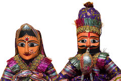 Figures Crafts of India. Figures isolated on white background man and woman couple. Crafts of India Stock Image