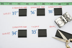 Figures and cut out belts Stock Photo