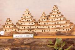 Figures découpées avec du bois de pain pita Images libres de droits