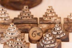 Figures découpées avec du bois de pain pita Image libre de droits