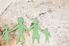 Figures de la famille sur une toile sale Images libres de droits