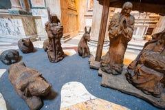 Figures de scène de nativité dans le Panthéon Photos stock