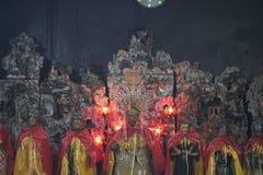Figures of deities in silk cloaks royalty free stock image