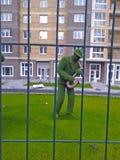 Figures des musiciens de l'herbe Images libres de droits