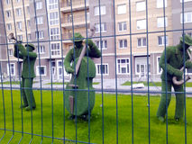 Figures des musiciens de l'herbe Photo stock