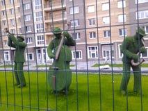 Figures des musiciens de l'herbe Image libre de droits