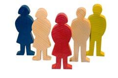 Figures en bois Photos libres de droits