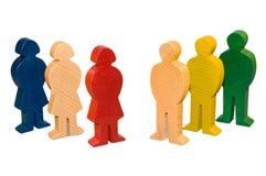 Figures en bois Photo libre de droits