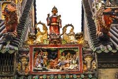 Figures en céramique Chen Ancestral Taoist Temple Guangzhou Chine Photo stock