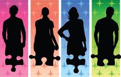 Figures et puzzle Images libres de droits