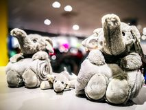 furry toys elephant royalty free stock photography