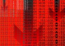 Figures financières Photographie stock