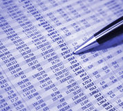 Figures financières Photographie stock libre de droits
