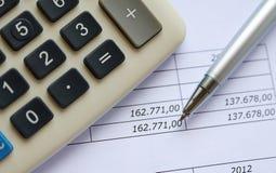 Figures financières Images stock