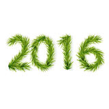 Figures from fir branches 2016. Happy New Year 2016. Vector illustration Vector Illustration