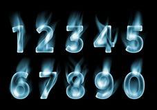 Figures Font smoke. Font Number clouds. Fog figures Stock Photo