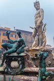 Figures Fountain of Neptune in Florence, Italy Royalty Free Stock Image