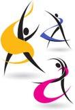 Figures gymnastiques Images libres de droits