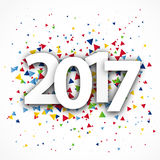 Figures 2017. Happy New Year and Merry Christmas Royalty Free Stock Photography