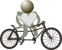 Figures heart and bike Royalty Free Stock Photos