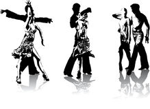 Figures of latin american dancers. Beautiful hi detailed figures of latin american dancers Royalty Free Stock Photo