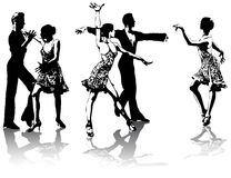 Figures of latin american dancers Royalty Free Stock Photo