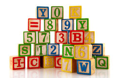Figures and letters Stock Images