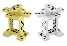 Figures made of dominoes Royalty Free Stock Photos
