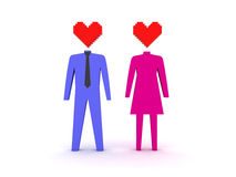 Figures of male and female in love. Royalty Free Stock Photos