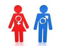 Figures man and woman #1. Figures man and woman on a white background.#1 Stock Photos