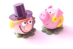 Figures of marzipan Stock Photos