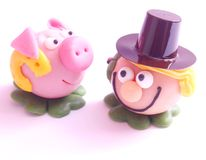 Figures of marzipan Stock Images