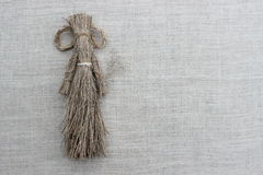 Figures of men made from the dry grass Stock Photography
