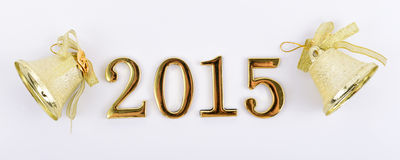 Figures of the new 2015 year on a white background Royalty Free Stock Images
