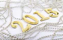 Figures of the new 2015 year on a white background Stock Image