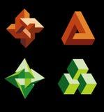 figures omöjligt vektor illustrationer
