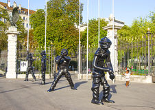 Figures in Parc des Bastions in Geneva Royalty Free Stock Photography