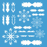 Figures. Patterns, templates, white winter snowflakes Stock Photography