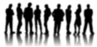 The figures of people. Blur on a white background. Lots of options for design. There is a place for text Stock Photography