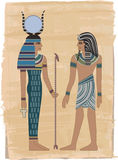 figures pharaohen vektor illustrationer