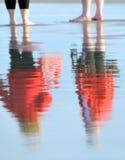 figures reflexion Arkivfoton