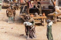 Figures représentant Noël, Espagne Images libres de droits