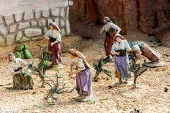 Figures représentant Noël, Espagne Photo stock