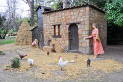 Figures representing Christmas nativity scene. (Spain Royalty Free Stock Images