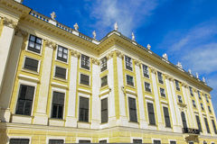 Figures on the roof of  Schoenbrunn Stock Image
