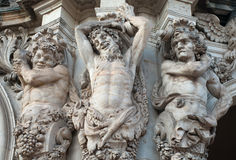 Figures of satyrs in the Zwinger palace in Dresden Stock Image