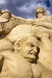 Figures sculpted in sand Royalty Free Stock Image