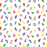 Figures. Seamless background. Vector seamless wallpaper with colorful numbers Stock Photo