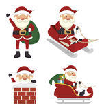 Figures set santa claus isolated icon design. Illustration  graphic Stock Image
